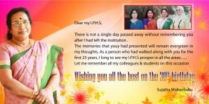 Greetings from Mrs. Sujatha Mohan Babu